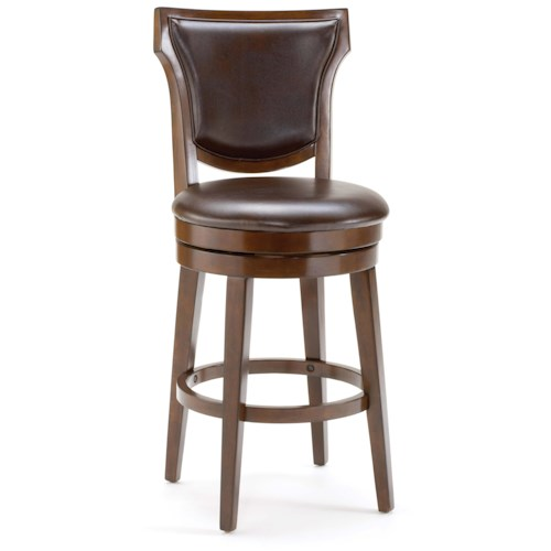 Hillsdale Wood Stools Country Heights Swivel Counter Stool