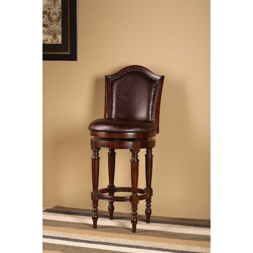 Hillsdale Wood Stools Barcelona Counter Stool with Turned Legs