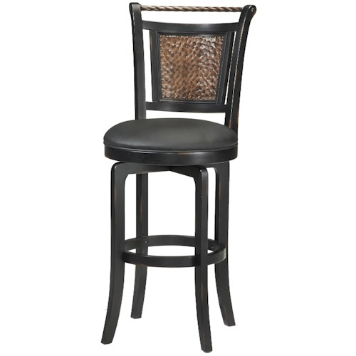 Morris Home Furnishings Wood Stools 30.5