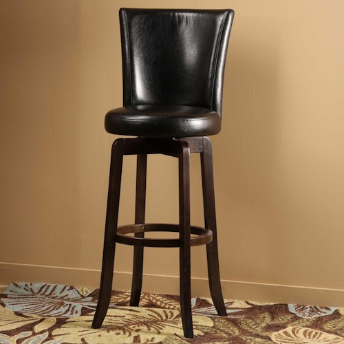 Morris Home Furnishings Wood Stools  Copenhagen Swivel Bar Stool