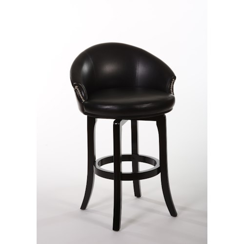 Morris Home Furnishings Wood Stools Dartford Swivel Bar Stool with Tapered Feet