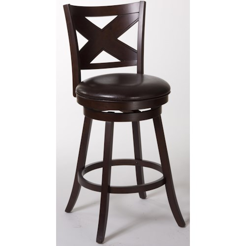 Hillsdale Wood Stools Ashbrook Bar Stool with X Back