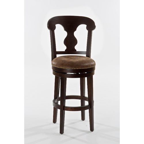 Hillsdale Wood Stools Wooden Swiveling Counter Height Stool