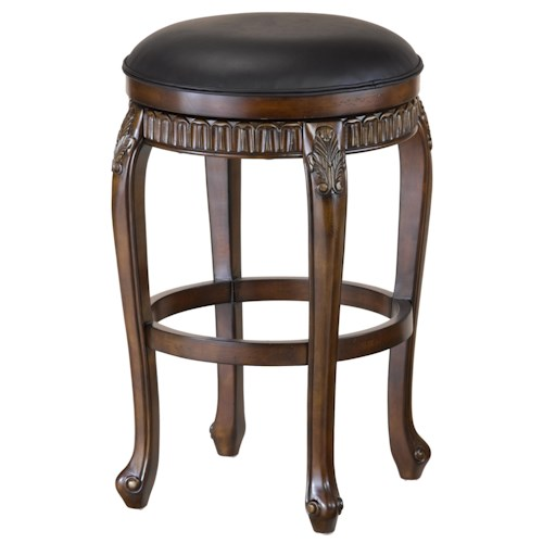 Morris Home Furnishings Wood Stools 24