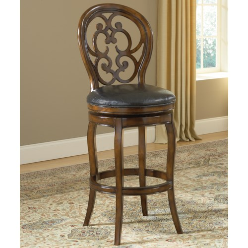 Hillsdale Wood Stools Alexandra Swivel Bar Stool
