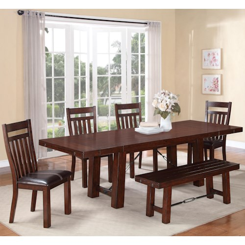 Holland House 1258 6 Piece Dining Table Set