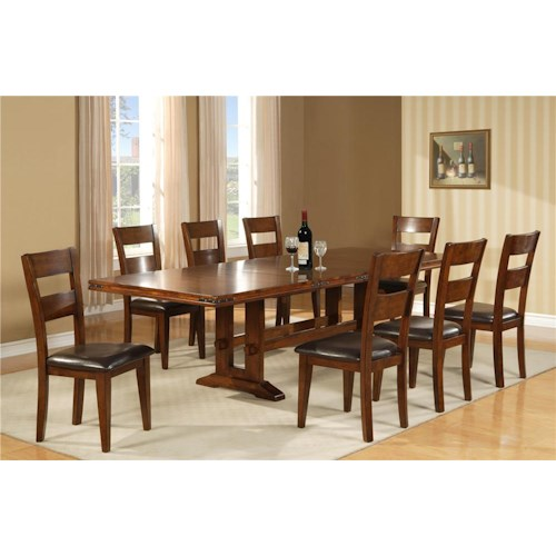 Morris Home Furnishings Coventry 5 Piece Dining Set includes 4 Side Chairs