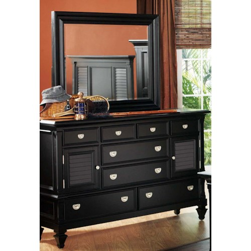 Holland House Black Dresser/Mirror