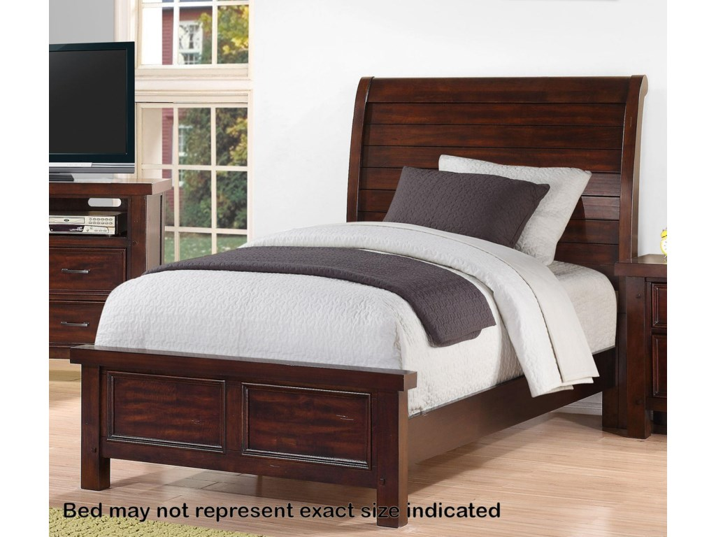 Holland House SONOMA YOUTH Full Sleigh Bed Miskelly Furniture