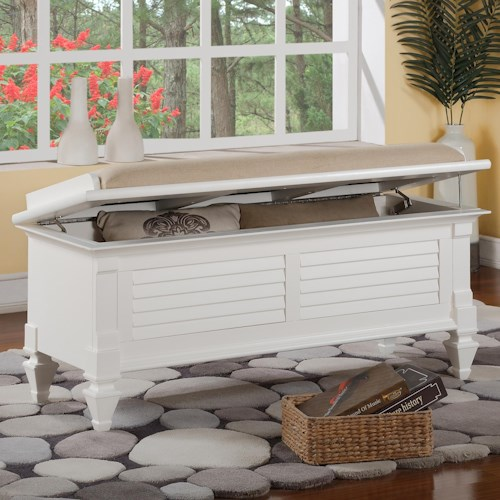 Holland House 2697 Storage Bench with Upholstered Seat