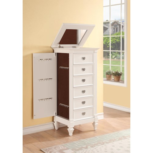 Holland House 2697 6 Drawer Jewelry Chest