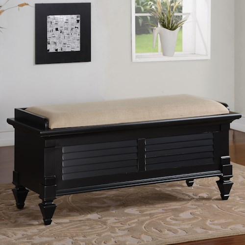 Holland House 2698 Storage Bench with Upholstered Seat