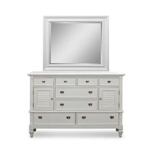 Holland House White Dresser/Mirror