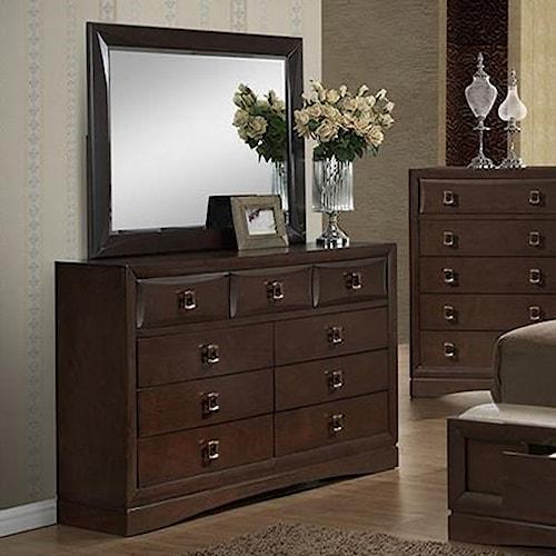 Holland House Franklin Dresser & Mirror