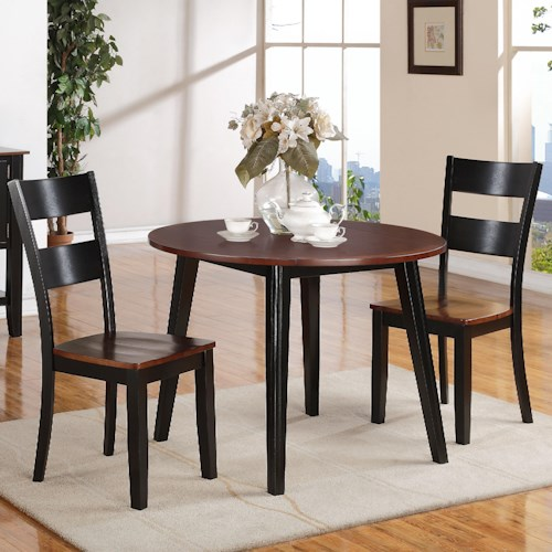 Holland House 8202 3 Piece Dining Set with Drop Leaf Table