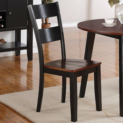 Holland House 8202 Ladderback Side Chair with Tapered Legs