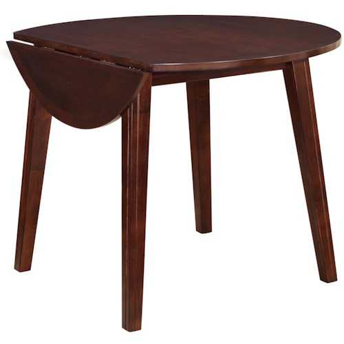Holland House 8203 Round Drop Leaf Table with Splayed Legs