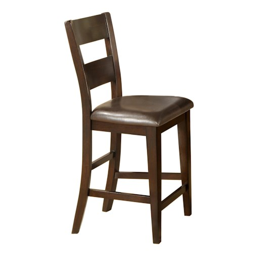 Morris Home Furnishings Melbourne Ladder Back Pub Chair with Upholstered Seat