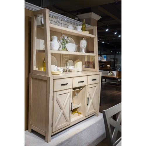 Morris Home Furnishings Melbourne - 2-Piece Sideboard with Hutch