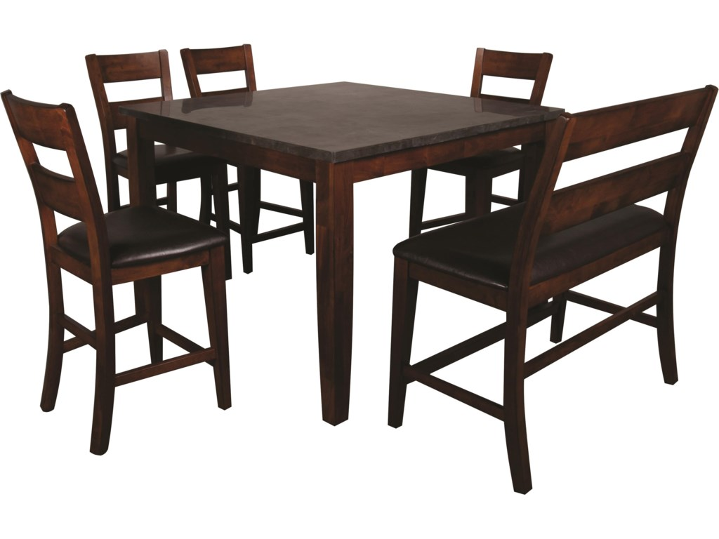 Stone Top Kitchen Table Melbourne 6 Piece Pub Set With Blue Stone Top Morris Home Pub