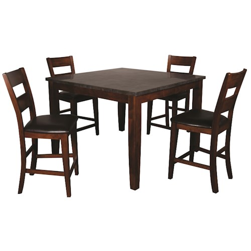 Morris Home Furnishings Melbourne 5-Piece Dining Set with Blue Stone Top