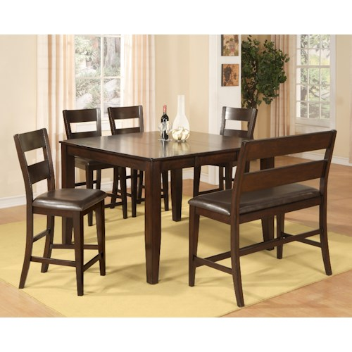 Morris Home Furnishings Melbourne - 6-Piece Pub Set