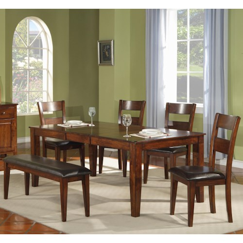 Morris Home Furnishings Melbourne 6-Piece Dining Set