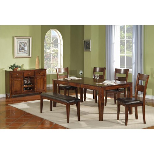 Morris Home Furnishings Melbourne 5-Piece Dining Set
