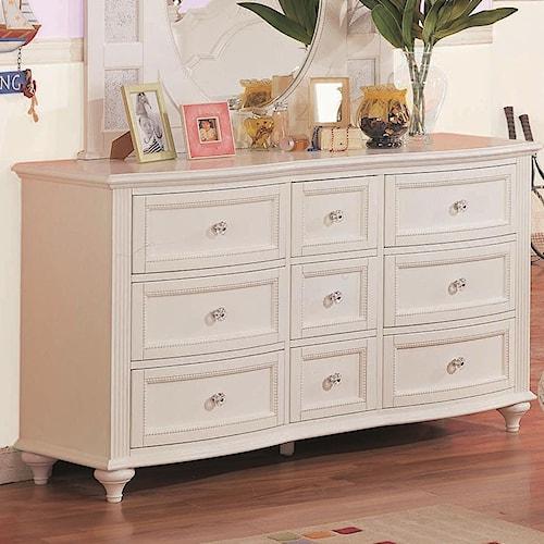 Morris Home Furnishings Loveland Dresser w/ Clear Knobs