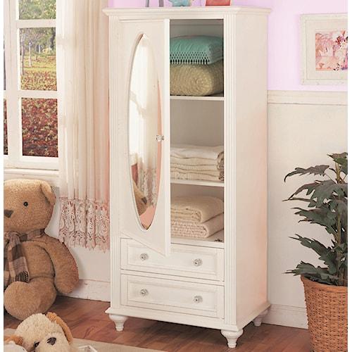 Morris Home Furnishings Loveland Wardrobe w/ Oval Mirror