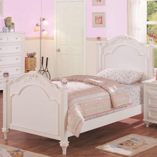Morris Home Furnishings Loveland Twin Post Headboard and Footboard Bed