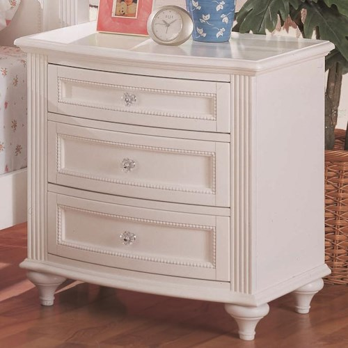 Morris Home Furnishings Loveland Night Stand w/ 3 Drawers
