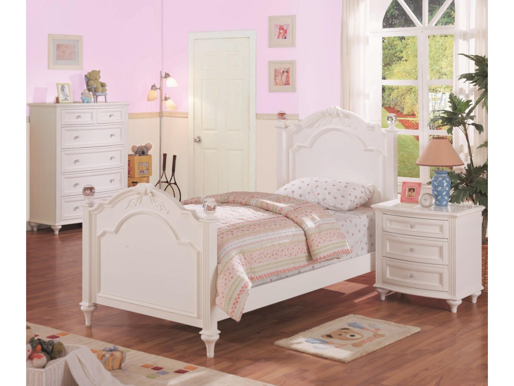 Shown in Room Setting with Nightstand and Chest