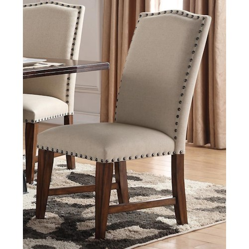 Morris Home Furnishings Creston Upholstered Side Chair