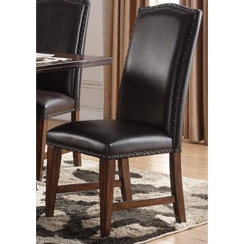 Morris Home Furnishings Creston Leather Side Chair
