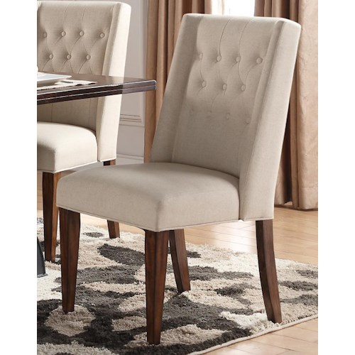 Morris Home Furnishings Creston Upholstered Parsons Chair
