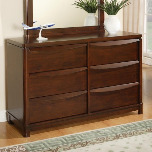 Morris Home Furnishings Granada Rectangular 6 Drawer Dresser