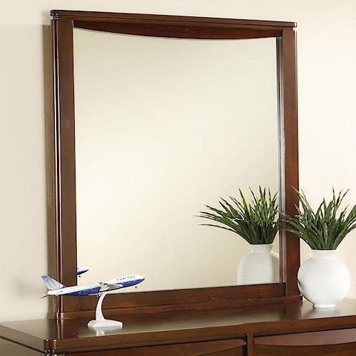 Morris Home Furnishings Granada Rectangular Wood Framed Dresser Mirror