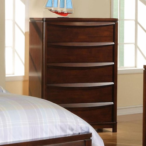 Morris Home Furnishings Granada 5 Drawer Wood Chest