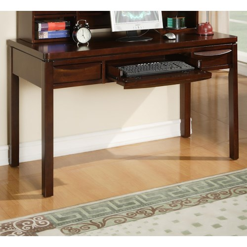Morris Home Furnishings Granada 2 Drawer Computer Desk with Keyboard Rollout Drawer