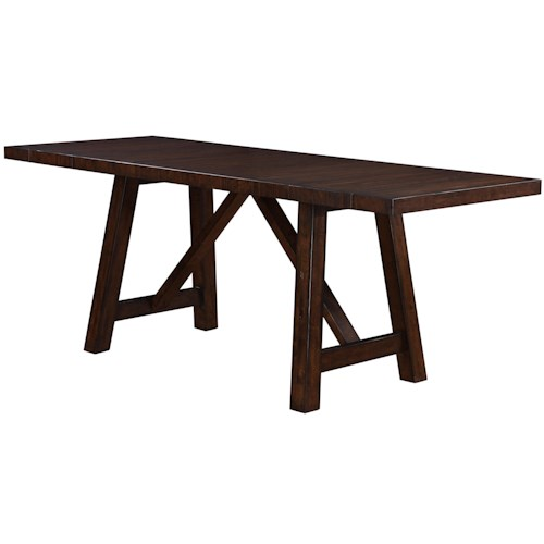 Morris Home Furnishings Norwalk Colonial Trestle Table w/ Leaves