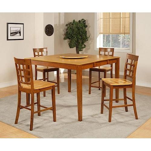 Morris Home Furnishings Ridgeway 5-Piece Pub Table and Chairs Set