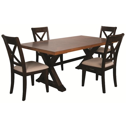 Morris Home Furnishings Saranac 5pc Dining Set