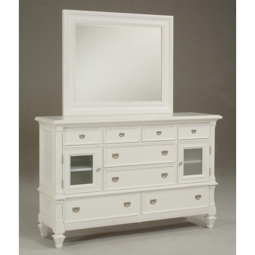 Morris Home Furnishings Surrey Dresser & Mirror