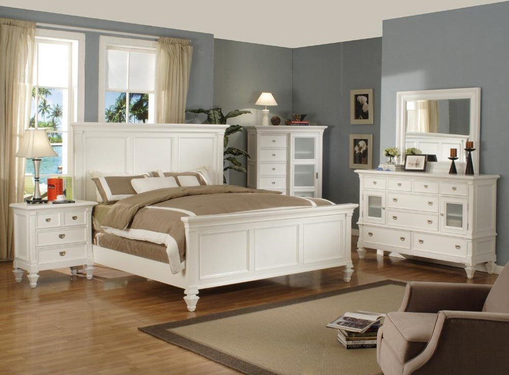 Shown with matching Nightstand, Dresser, Mirror and Chest.  Bed Shown May Not Represent Size Indicated.