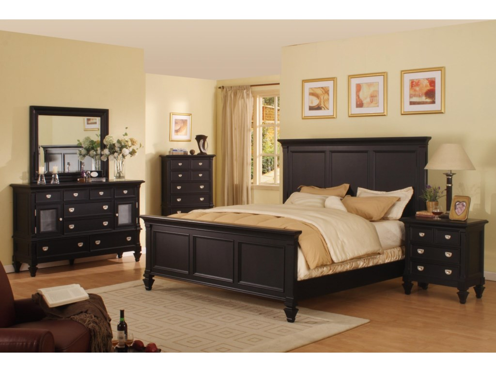 Shown with Chest, Nightstand, and Dresser with Mirror