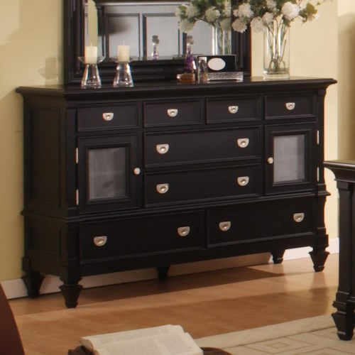 Morris Home Furnishings Surrey Solid Wood Door Dresser with Interchangeable Door Panels