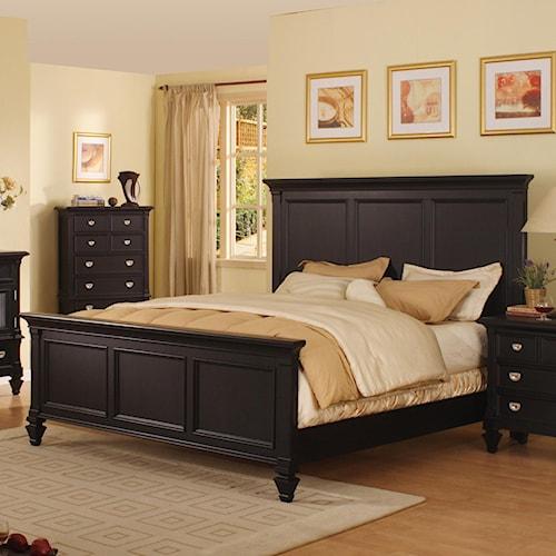 Morris Home Furnishings Surrey King Panel Bed