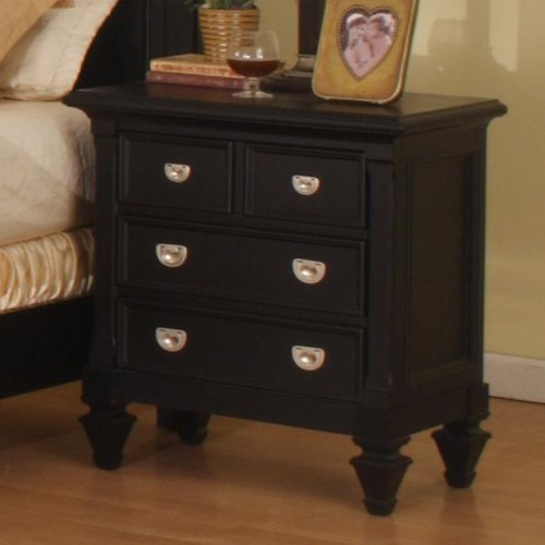Morris Home Furnishings Surrey Solid Wood Night Stand
