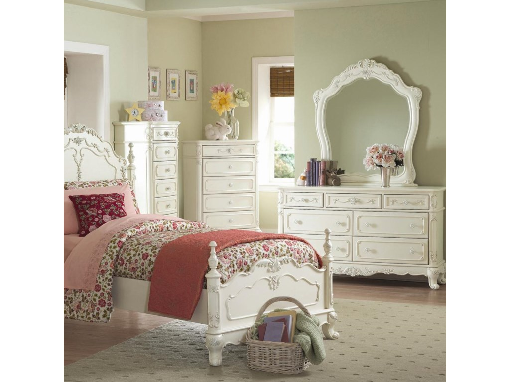 Dresser and Mirror in Room Setting